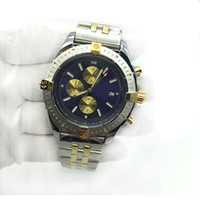 Wholesale silver tones resale online - Hot Sale Mens Watch Blue Dial Automatic Mechanical Two Tone Stainless Steel Classic Men Watches Male Wristwatches