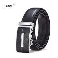 роскошный мужской ремень оптовых-DOSSNL Men's Belt High Quality Cowhide Genuine Leather Belts For Men  Temperament Automatic Buckle Male Belts A054