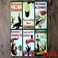 emblem homes NZ - 20*30cm Metal Tin Sign Beer my Guinness Retro Vintage Classic Tin Bar Pub Home Wall Decor Retro Tin Poster wn564 200PC