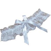 476faccbafd Branco preto cor sexy lingerie rendas liga mulheres perna garter belt lace  sexy casamento Perna Anel Loop Stocking Belt