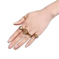 5 pezzi   set vintage mano nocca opale set di anelli per le donne foglia  fiore totem intagliato anelli etnico boho set di istruzioni e8c0a7164a5f