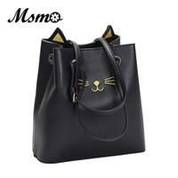 Wholesale kitty messenger bags for sale - Msmo Sailor Moon Bucket Bag Samantha Luna Style Cat Ladies Hand Bags Shoulder Bags Kitty Cat Bag Women Messenger Crossbody Tote Bag
