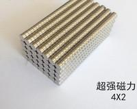 4 mm de neodímio venda por atacado-100 PCS LOTE 4mm x 2mm Rare Earth Neodímio Super Forte Ímãs N35 Terra Rara Neodímio Super Forte Ímãs