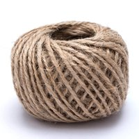 gewebte seilschnur großhandel-Woven 30M / Roll natürliche Seil DIY Tag Label hängen Seil Hochzeit Startseite dekorative Schnur Jute String Gartenarbeit Schnur
