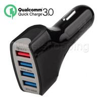 araba için fiş şarj cihazı toptan satış-En Qualtiy QC 3.0 4USB 7A Adaptif Hızlı Samsung Galaxy Home For Seyahat Araç Şarj Tak kablo usb kablosu Şarj