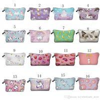Wholesale Flower Girl Purses - Unicorn Flowers horse Purse Animal print bags 2018 new fashion cartoon children wallet C3661