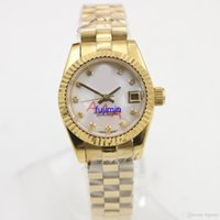 Wholesale 82 Mm - hot sell Ladies automatic mechanical watch DAY Pearl face 26mm luxury watch woman AAA model aaa replicas watches royal oaks JUST 82