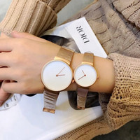 correia de aço fêmea venda por atacado-2018 homens relógio de quartzo marca de cinto de luxo relógios dos amantes de couro banda de aço relógio de pulso relógio masculino feminino Senhoras relógios mulheres Wristwa