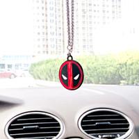автомобильный кулон оптовых-New Car Pendant For Deadpool Hanging Ornament Auto Interior Rearview Mirror Suspension Automobile Decoration Car Accessories