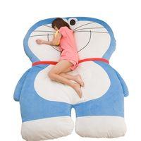 Wholesale anime mattress online - hot anime Doraemon plush bed big stuffed cat mattress lazy couch cartoon tatami folding floor sleeping pad x150cm DY50467