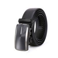 ceintures achat en gros de-2018 Hommes en cuir de haute qualité ceinture boucle automatique couche cuir ceinture mâle véritable entreprise décontractée Made in China