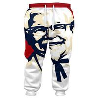 pantalones unisex al por mayor-Nueva caliente Moda largo Parejas Pantalones Hombres Mujeres unisex KFC Casual Pantalones Joggers 3D Impreso pantalón