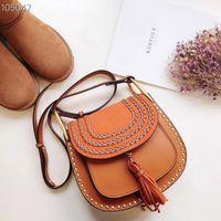 4370dcd66edb Famous brand designer handbags luxury women saddle tassel shoulder bags  female fashion bucket crossbody size 24x21cm