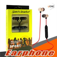 Wholesale earphone ear microphone - M5 Bluetooth Headphones magnetic metal wireless Running Sport Earphones Earset With Mic MP3 Earbud BT 4.1 For iphone Samsung LG Smartphone