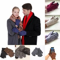 Wholesale yoga tablets for sale - Group buy Custom LOGO iwarm Knitted Touch Screen Gloves Winter Plus velvet Warm Anti skid Gloves For Cell phone ipad Tablet Styles Free DHL H917Q