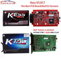 Wholesale K Tuned - Online EU Red Kess V5.017 Kess V2 5.017 OBD2 Manager Tuning Kit Red KTAG V7.020 No Token K-TAG 7.020 Master V2.23 ECU Programmer