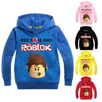 d58def04f0dff Children Autumn Sweater For Boys ROBLOX RED NOSE DAY Hooded Cartoon Girls  School Sports Top Kids Casual T-shirt Christmas Tee Y1892907