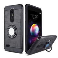 Wholesale cell phones prices resale online - For ZTE MAX XL N9560 max pro Z981 PC TPU Hybrid Brushed Metal Cell Phone Case With Ring Kickstand Cover Low Price