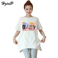 3b0e15c5c93b1 HziriP Plus Size 2018 New Summer Maternity Tees Casual Loose Printing  Cotton Short Sleeve T-shirts Women Tops Pregnancy Clothes