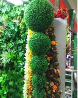 ingrosso pianta di erba interna-2pcs piante artificiali erbe palla fiori finti decorazioni fiori Milano erba palla strada per giardino di casa decorazioni per ufficio interni esterni