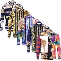 nouvelles chemises de marque long achat en gros de-Les nouvelles chemises des hommes des hommes d'affaires décontracté chemise hommes chemises habillées à manches longues Medusa rétro chemise de luxe