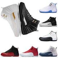 Wholesale white gold master - 2018 basketball shoes 12 12s Bordeaux Dark Grey The Master white Flu Game UNC Gym red taxi gamma french blue Suede sneaker trainers