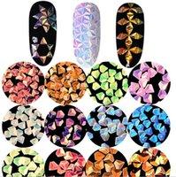 importation de clous achat en gros de-2017 Nail Art Professional Import 3D diamant paillettes en trois dimensions laser coloré paillettes ensemble Nail bijoux décorations pour les ongles