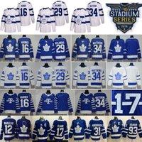 Wholesale Toronto Maple Leaf Jerseys - 2018 Stadium Series Toronto Maple Leafs Auston Matthews Jersey Hockey 34 Mitchell Marner William Nylander White Blue Arenas Men Women Youth