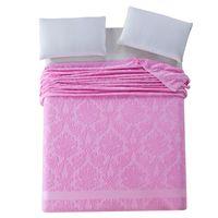 mantas tamaño queen al por mayor-Manta de la toalla del verano de la venta caliente Estampado de flores del telar jacquar del algodón del 100% Mantas de la toalla del sitio lleno de la reina del tamaño Queen en la cama