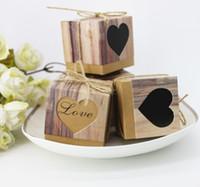 urlaub geschenkboxen großhandel-Candy Bag Geschenkbox LIEBE Handwerk Papier DIY Candy Box Geschenkbox Für Hochzeit Urlaub Geburtstag Party Süßigkeiten Cookies Schokolade Paket