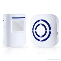 alarma del sensor pir al por mayor-Alerta de entrada en la vía de acceso inalámbrica, alarma de la entrada de seguridad en el hogar de Bohndeiny, campanilla de la puerta de la puerta de visitante con 1 receptor enchufable y 1 sensor de movimiento PIR Det
