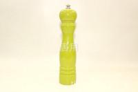 ingrosso luci girevoli gialle-Macinapepe in legno di colore giallo chiaro Legno ZX-A197 Macinapepe rotante manuale in legno di faggio Macinapepe in sale