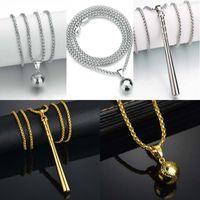 Wholesale Baseball Bat Holder - 2018 Jewelry Baseball Bat Necklace 4 Style New York Pendants Holder For Gift Men Souvenir Long Necklaces Free DHL D801S
