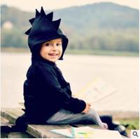 çocuklar dinozor sweatshirt toptan satış-Dinozor Hoodies Ceketler Boys Karikatür Kapşonlu Tops Dış Giyim Çocuklar Hayvan Coat Çocuk Ins Konfeksiyon Tişörtü Jumper Bebek Çocuk Giyim