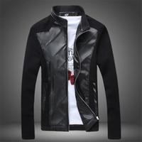 Wholesale men strip clothes - 2017 Mens Leather Jackets And Coats Erkek Deri Ceket Spring New Men's Leather Cowboy Jacket Male Coat Clothing Free Shipping