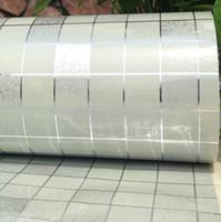 ingrosso carte da muro-Adesivi murali bagno carta da parati mosaico PVC cucina impermeabile adesivi per piastrelle di plastica vinile autoadesivi wall papers home decor