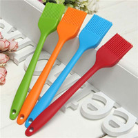 Wholesale home cooking tool online - DHL Silicone Oil Brush Heat Resistance BBQ Basting brushes colorful home outdoor Baking Cooking BBQ tools