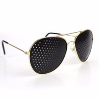 Wholesale improve vision for sale - Group buy Gold Plated New Style Metal Pinhole Glasses Exercise Natural Healing Vision Improve Myopia Hyperopia Presbyopia Cataracts