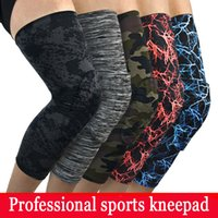 Wholesale Youth Pads - 5 Style Basketball Padded Leg Sleeve Knee Pad Protector Anti-Slip Honeycomb Custom Logo Youth Adult Football Wrestling Free DHL G436S