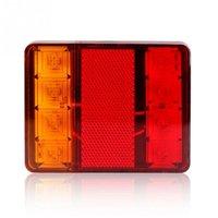 Wholesale universal brake stop light resale online - 2pcs High quality LED Waterproof Taillight For Trucks Trailers Brake Stop Signal Indicator Light