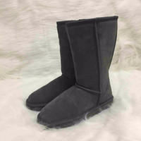 Wholesale plus gift for sale - Plus Size US3 Australian Ugs Women Unisex Snow Boots Waterproof Winter Leather Long Boots Brand IVG With Gift Colors