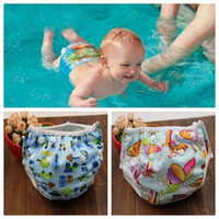 Wholesale swimming diapers resale online - Unisex free Size Waterproof Adjustable Swim Diaper Pool Pant Swim Diaper Baby Reusable Washable Pool Diaper Color