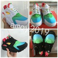 brand new fc1ce b6f7b Wholesale air huarache online - 2018 Air Huarache Ultra Running Shoes Men  Women Huaraches Rainbow Breathe