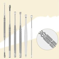 Wholesale silver health care online - Stainless Steel Ear Pick Tools Earwax Curette Remover Handle Cleaners Practical Earpick Spoon Cleaning Health Care Easy Carry hh jj