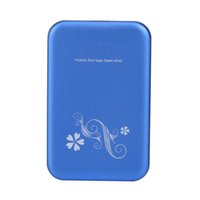"""Wholesale external hard drive case cover - Aluminium alloy USB 3.0 2.5"""" SATA External HDD HD Hard Drive Disk Enclosure Cover Case Blue (HDD NOT include)"""
