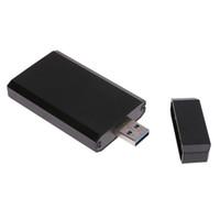 mini pci sdd sata toptan satış-Mini Taşınabilir 30 * 50mm PCI-e mSATA SSD USB 3.0 Dönüştürücü Adaptör Muhafaza Kutusu Mobil Sabit Disk Kutusu Caddy