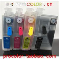 kardeş dolu toptan satış-Tam LC3619XL BK C M Y BROTHER MFC-J3930MFC-J3530MFC-J2330MFC-J2730inkjet yazıcı için mürekkep kartuşunu doldurun