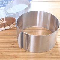 ingrosso cerchio da 12 pollici-6 pollici -12 pollici / Acciaio inossidabile Circle Ring Baking Tool Set Strumenti di decorazione di torta Stampo, Dimensioni Regolabile / stampi da cucina