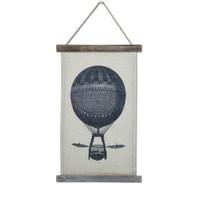 классические картины оптовых-Ретро стены Хлопок льняной живописи Wooedn Frame Классика Картины Винтаж Висячий рисунок Горячий воздушный шар