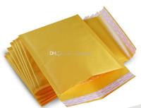 çanta hediye paketi kağıdı toptan satış-Küçük boyutlu Kraft Kağıt Kabarcık Yastıklı Zarflar Mailers Nakliye Durumda Hava Çanta Ambalaj Kabarcık Yastıklama Yastıklı hediye Wrap